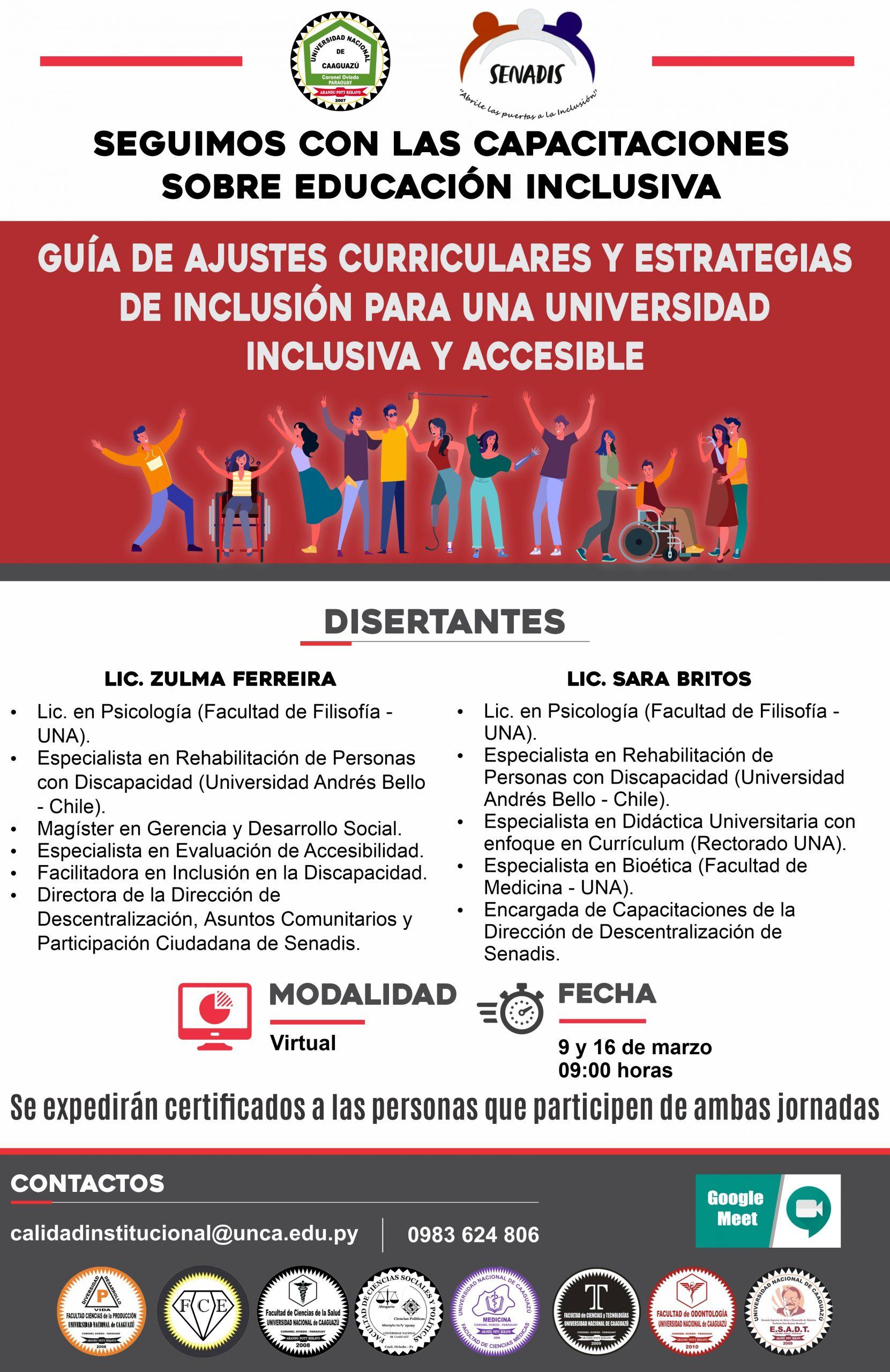 """📌Seminario """"Guía de Ajustes Curriculares y Estrategias de Inclusión para una Universidad Inclusiva y Accesible"""""""