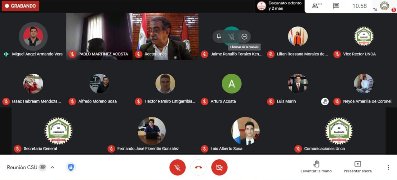 📌Sesión Virtual del Consejo Superior Universitario